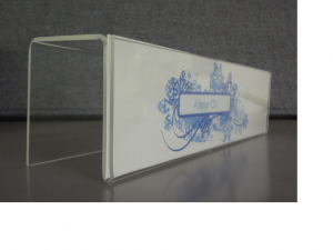 DSC02059-2 2.5X9 with 2.25 Wide Clear Acrylic Cubible Panel Sign - Side View
