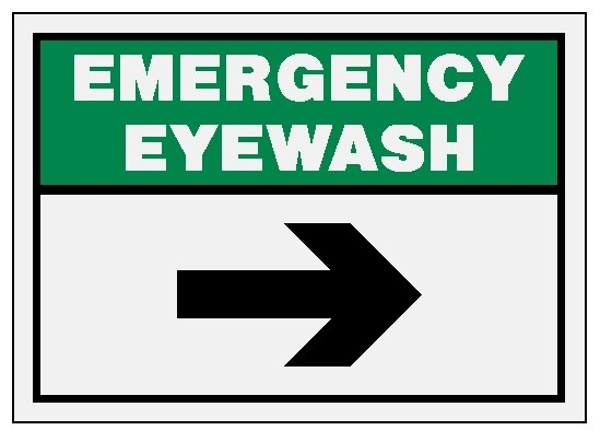 Emergency Eyewash - Direction Sign Image
